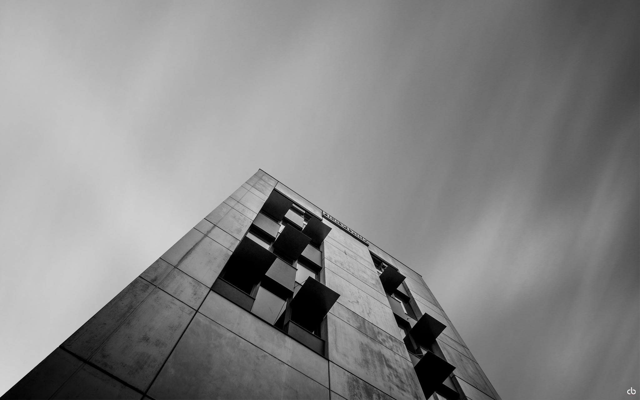 Gebäude - schwarz-weiß