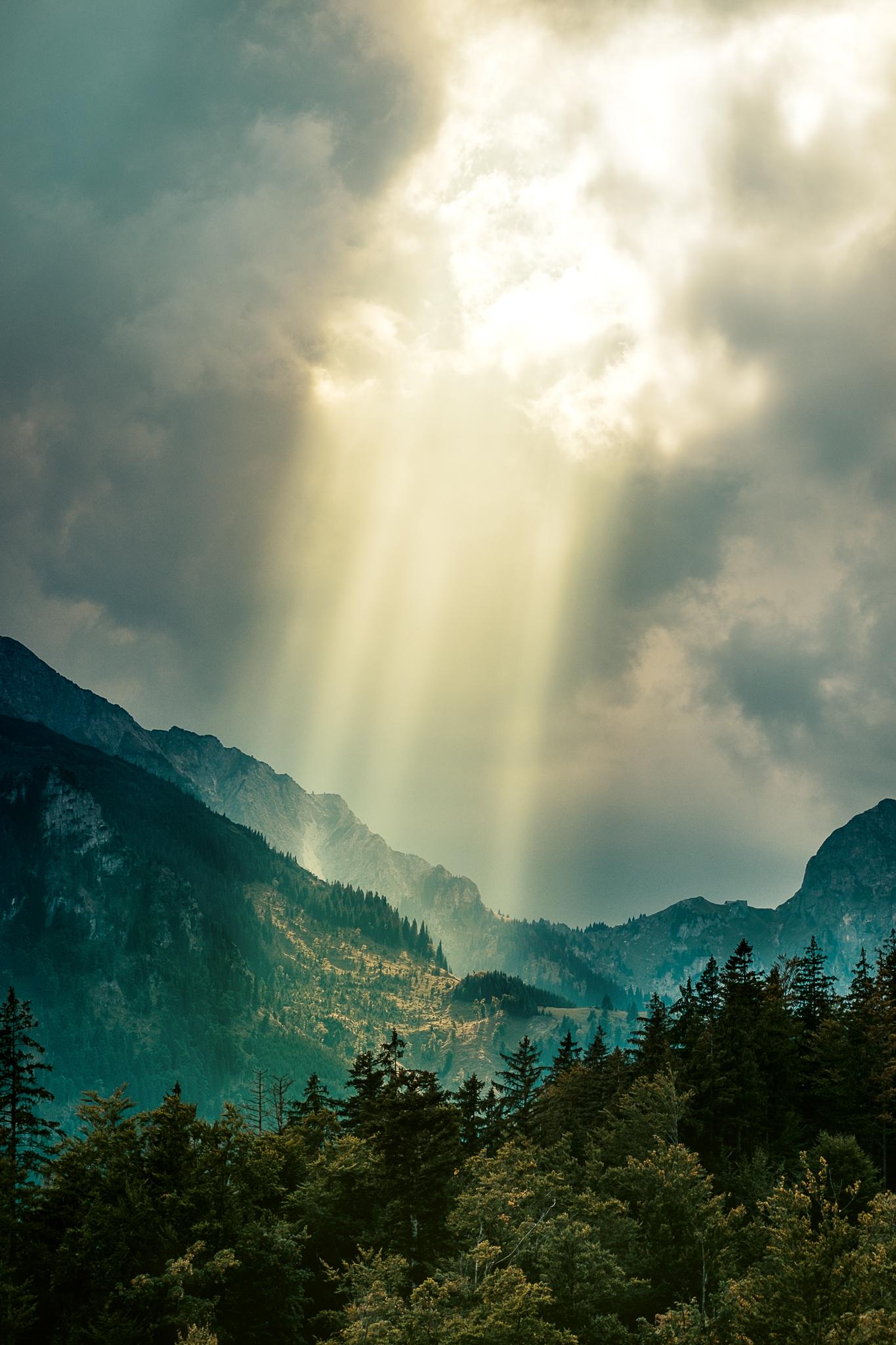 Licht in den Bergen