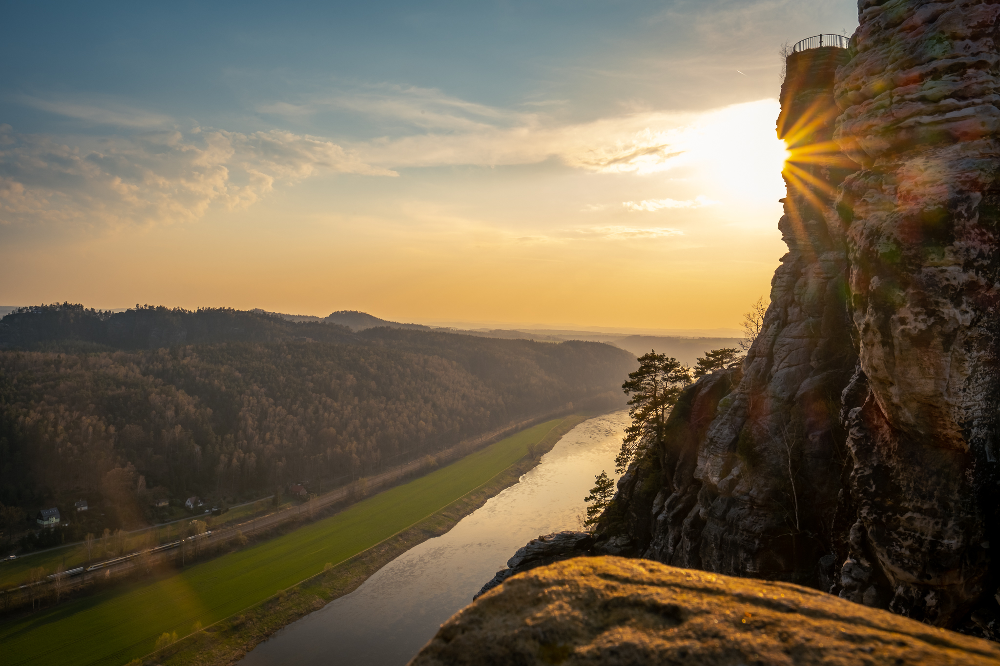 Sonnenuntergang - Bastei
