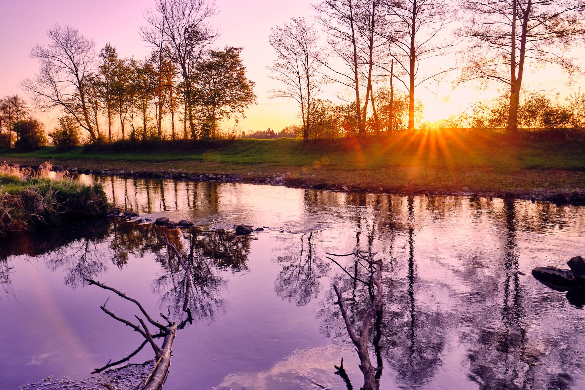Sonnenaufgang an der Schmutter